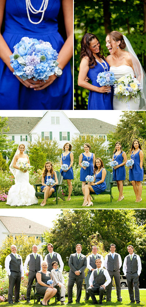 pretty, preppy blue, light green and white wedding at The Sagamore Resort in Lake George, New York, photos by Tracey Buyce Photography