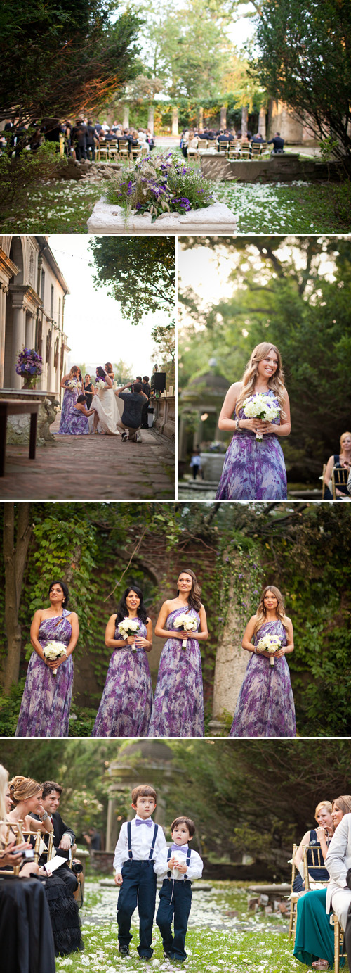 vintage, library-inspired, purple and gold wedding at Alder Manor, Yonkers, NY - wedding photography by Dave Robbins