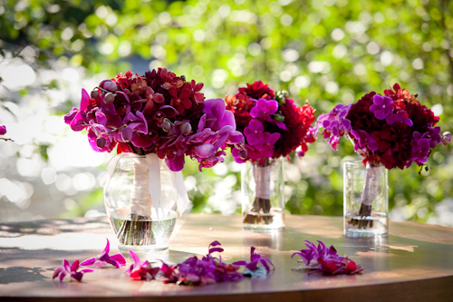 Lake Tahoe wedding in saturated jewel tones - photos by Catherine Hall Studios | junebugweddings.com