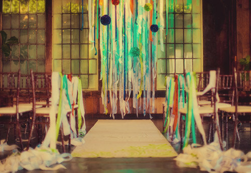 Fun and Colorful Eco-Friendly Wedding Decor by Bella Signature Design