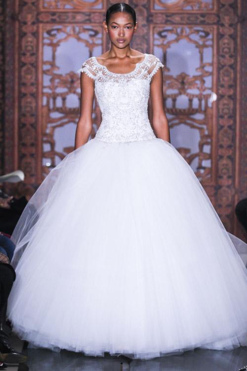 Glamorous Reem Acra Wedding Dress From Her Fall 2017 Collection Via Junebugweddings