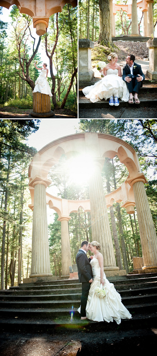 nature inspired San Juan Island wedding at Roche Harbor Resort - gorgeous wedding photos by top Seattle based wedding photographers Laurel McConnell and Barbie Hull on Junebug weddings