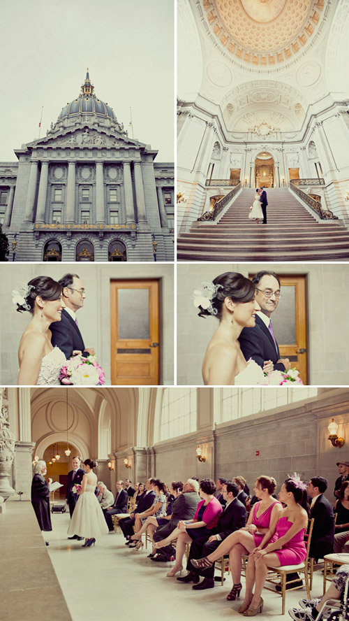 Timeless wedding ceremony at San Francisco City Hall, photos by Paco and Betty