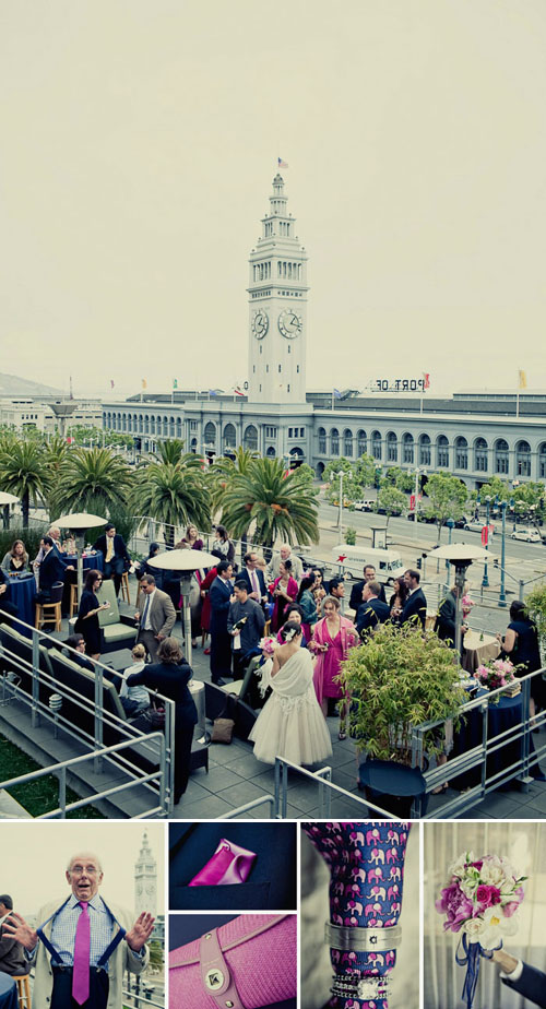 Pretty San Francisco wedding at City Hall romantic portrait of bride and groom, photo by Paco and Betty