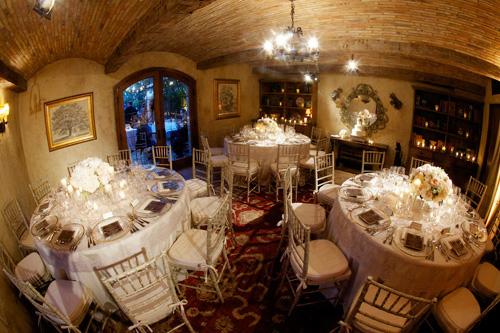 romantic dinner party wedding at San Ysidro Ranch, La Fete Wedding designs - photos by California wedding photographers BB Photography