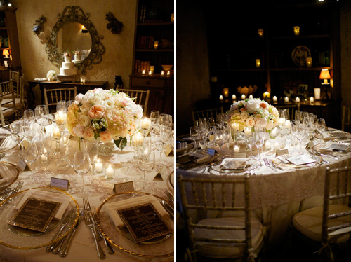 romantic dinner party wedding at San Ysidro Ranch, La Fete Wedding designs - photos by California wedding photographers BB Photography