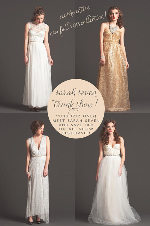 Sarah Seven Trunk Show at The Dress Theory, Seattle | junebugweddings.com