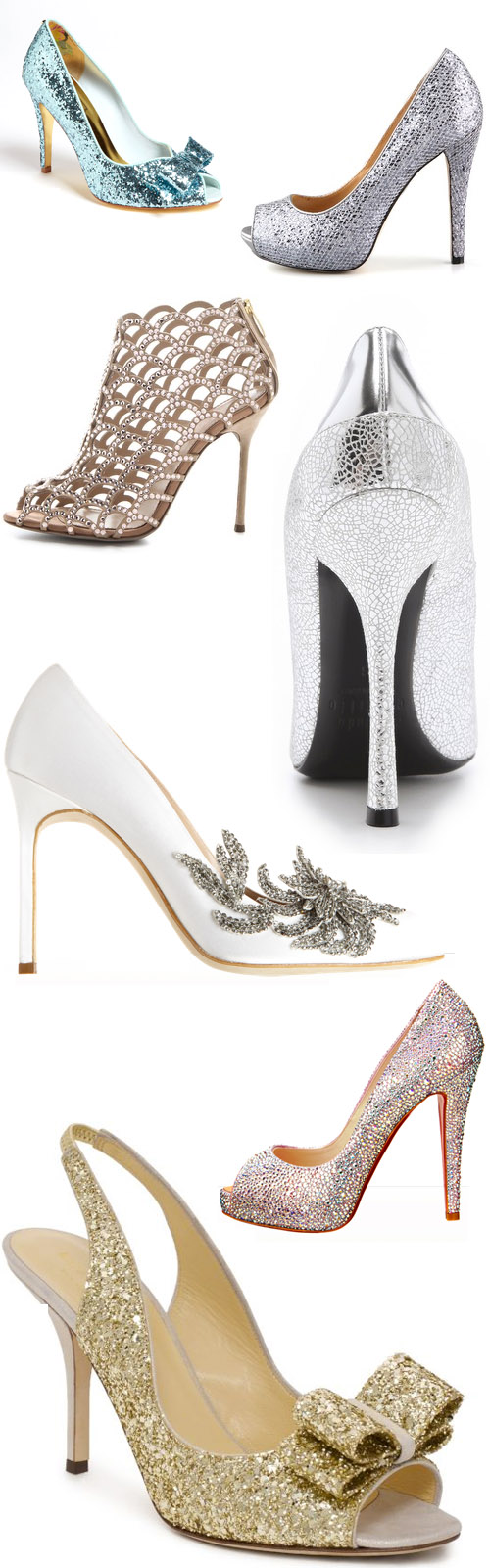 c7b8f8fe35b6 Sparkly Bridal Shoes for Holiday Weddings!