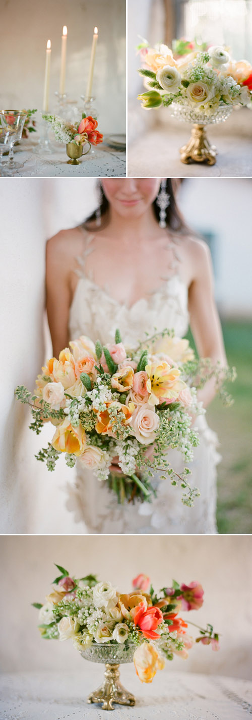 Spring Bridal Bouquet by Kate Holt of Flowerwild, Photo by Jose Villa, for Mag Rouge Issue 002
