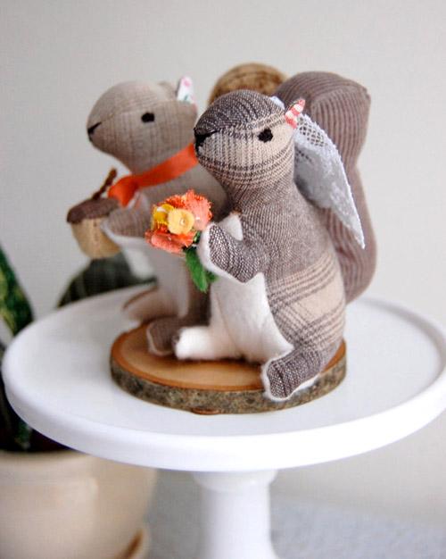 Stuffed Animal Wedding Cake Toppers By Sian Keegan
