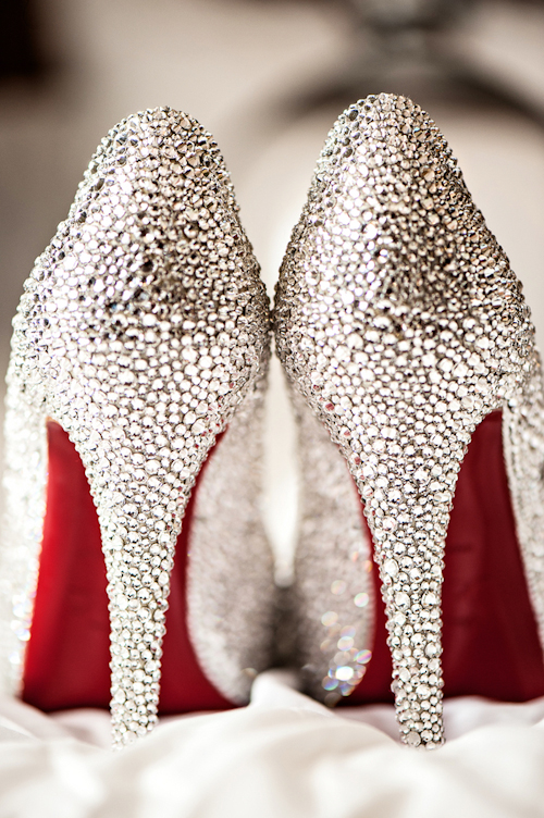 Christian Louboutin wedding shoes, photos by Kristen Weaver Photography | junebugweddings.com