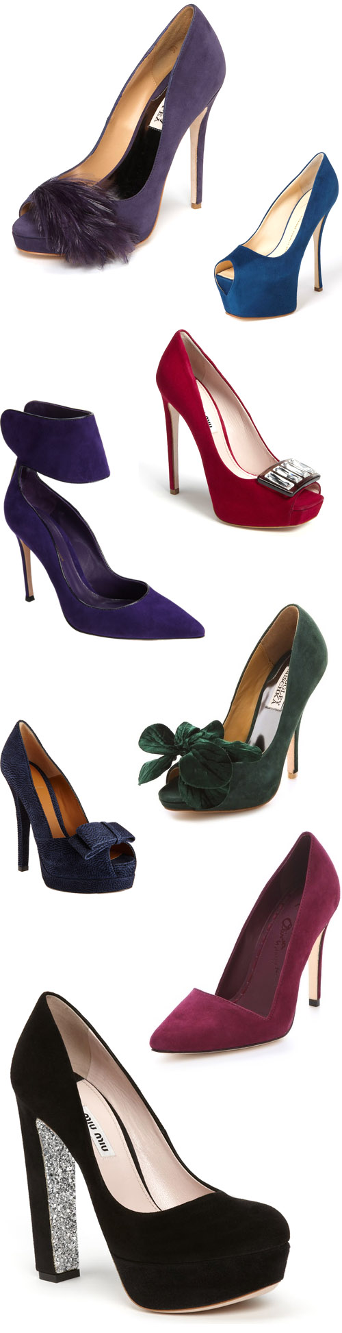 suede wedding shoes for fall and winter via junebugweddings.com