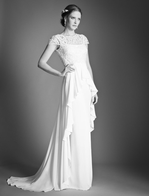Temperley Bridal Bluebell dress from Bridal Market | via junebugweddings.com