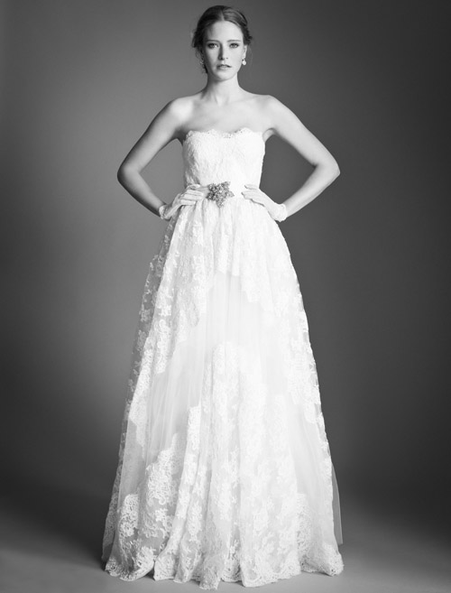 Temperley Bridal Clematis wedding dress from Bridal Market | via junebugweddings.com