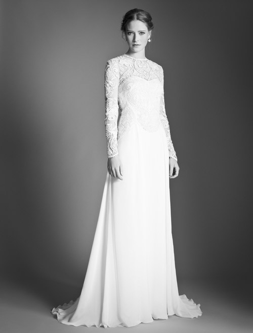 Temperley Bridal Flora dress from Bridal Market | via junebugweddings.com