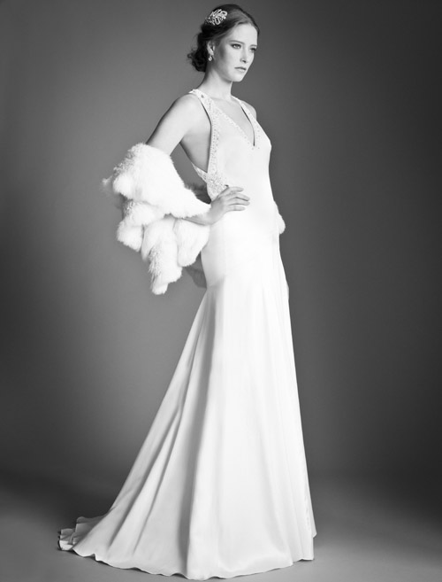 Temperley Bridal Sylvia wedding dress from Bridal Market | via junebugweddings.com