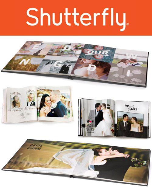 Travel honeymoon giveaway from junebugweddings.com - Shutterfly premium photo book