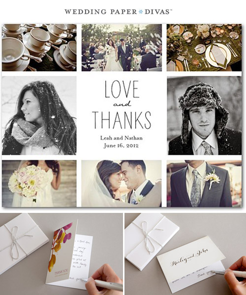 Thank you notes are also great piece of memorabilia for your guests after the special night. Choose a photo from the day and select a unique design which compliments your wedding day. At Paper Divas, we have a huge range to choose from, with thank you cards to make your mark as a married couple.