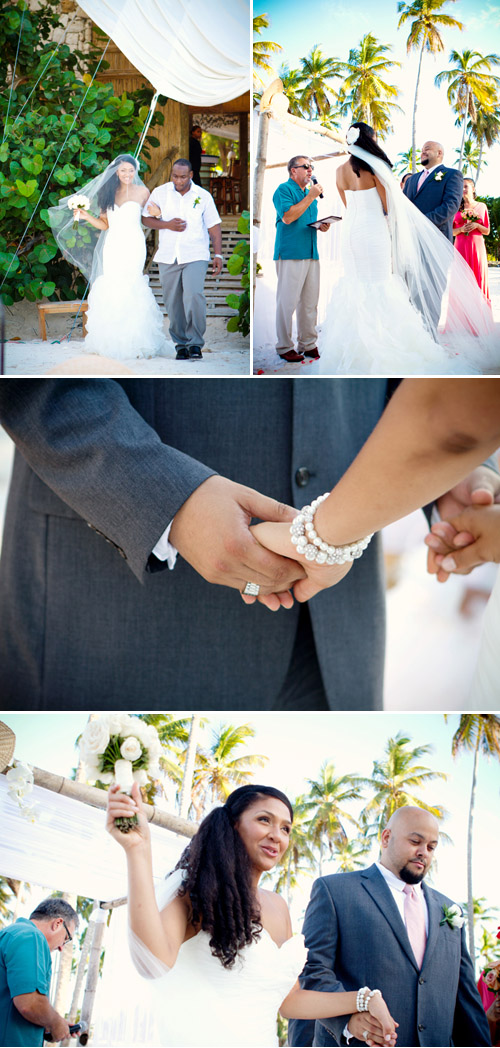 tropical beach wedding, photo by mw photo studio