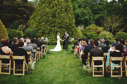 garden wedding at the Cecil Green Park House in Vancouver, BC, photo by Michael Wachniak