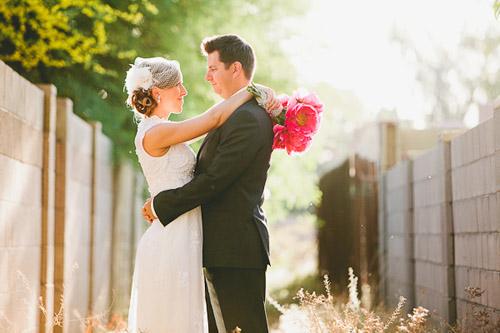 Colorful Backyard Vintage Wedding In Phoenix, AZ