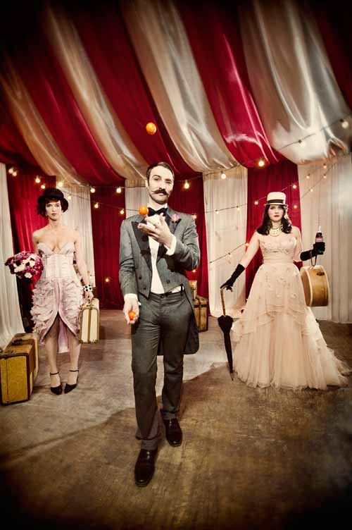 Circus Wedding Ideas for Get Hitched Give Hope | Junebug Weddings
