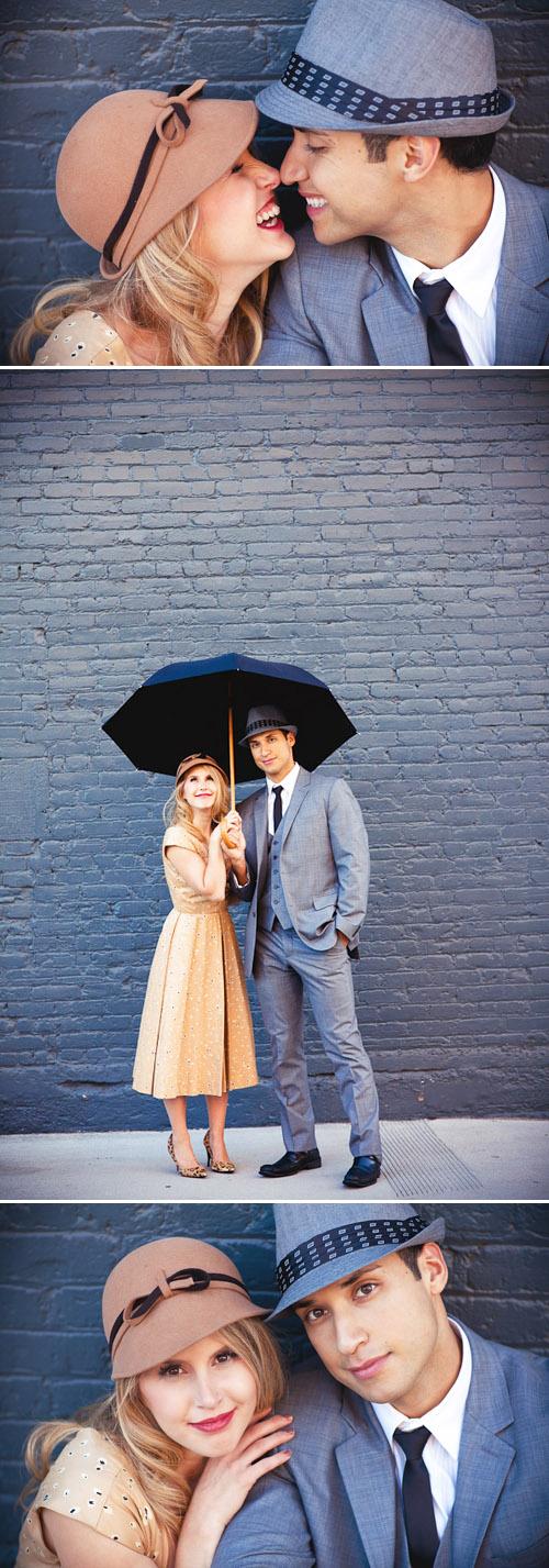 quotsinging in the rainquot inspired engagement photos junebug