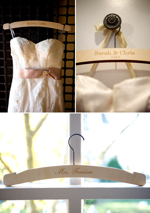 Wedding Dress Hangers from Heirloom, Photos by Ashley Garmon Photgraphers | Junebug Weddings
