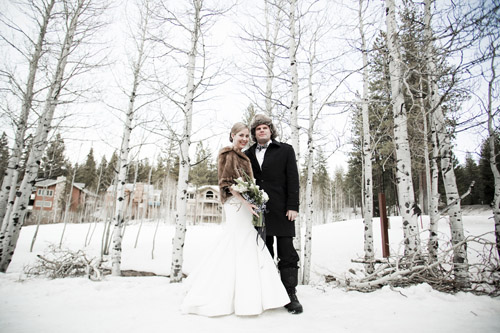 chic winter wedding in lake tahoe california junebug