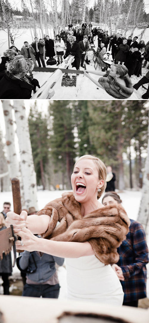 stylish winter woodland wedding in Lake Tahoe, photos by Viera Photographics