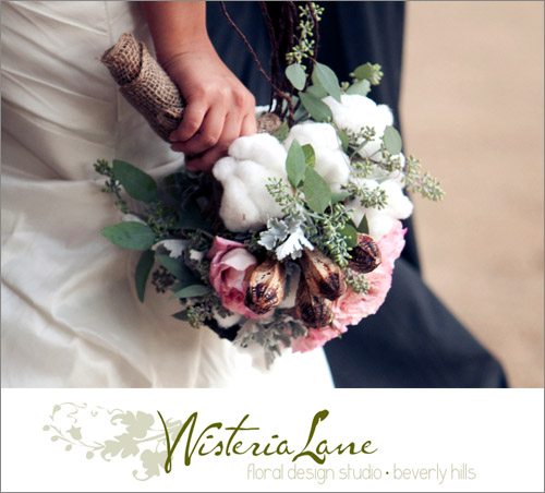 Bridal bouquet by Wisteria Lane, Beverly Hills florist | junebugweddings.com