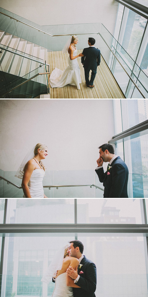 Colorful modern Seattle wedding, photos by Benj Haisch | Junebug Weddings