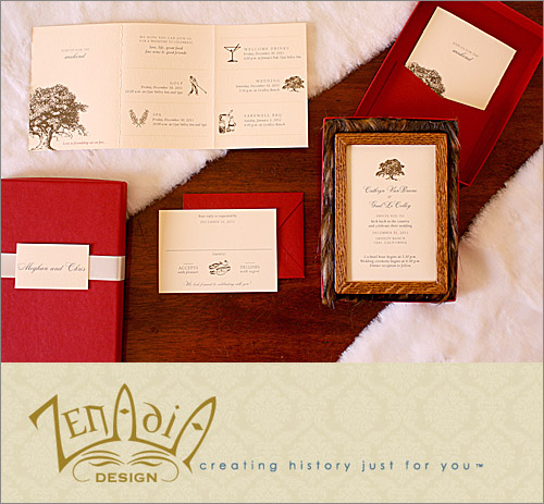 Rustic, elegant wedding invitation from Zenadia Design | junebugweddings.com