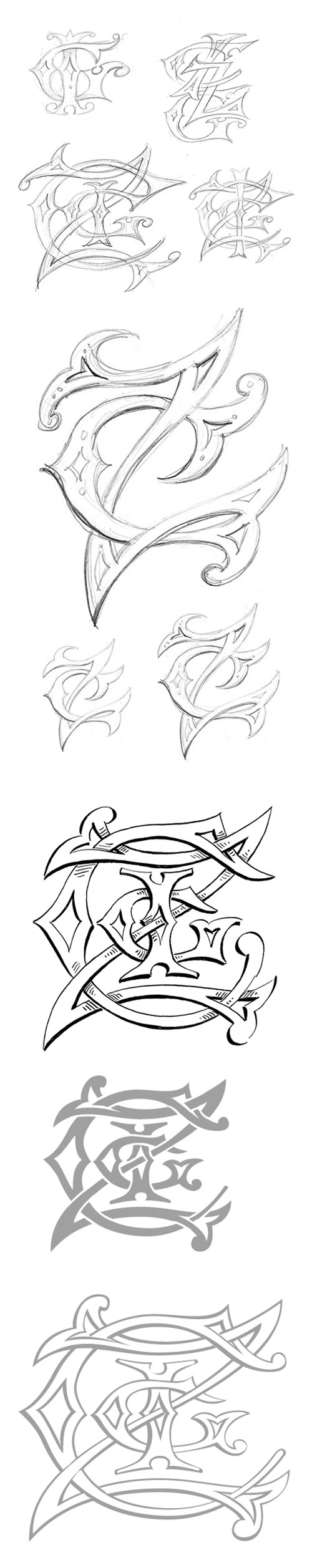4 letter wedding monogram from michelle rago and pier gustafson junebugweddingscom