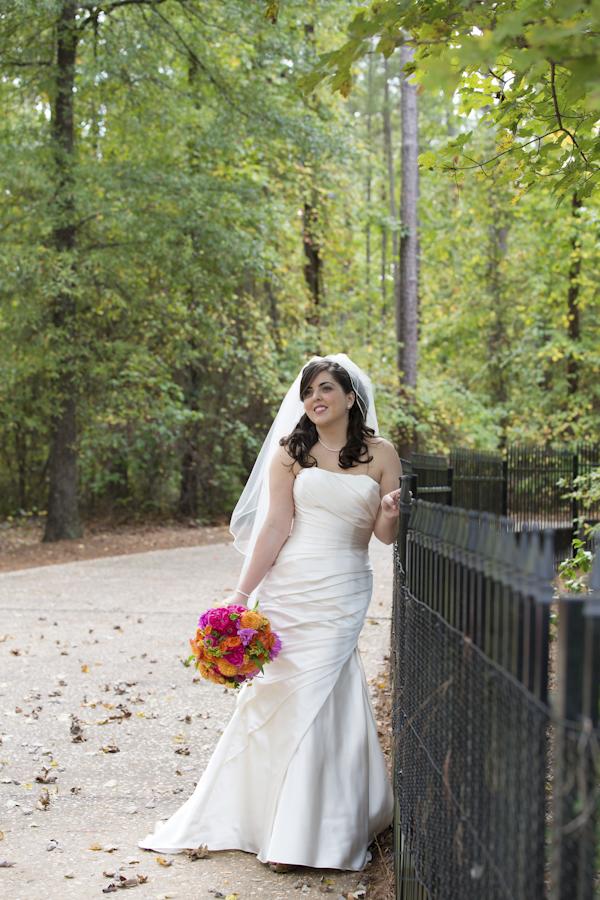 Christopher Confero Designs bright colored wedding in Alabama, photos by Wynter Photography | via junebugweddings.com