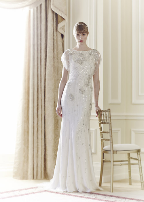 wedding dress by Jenny Packham - spring 2014 bridal collection | via junebugweddings.com