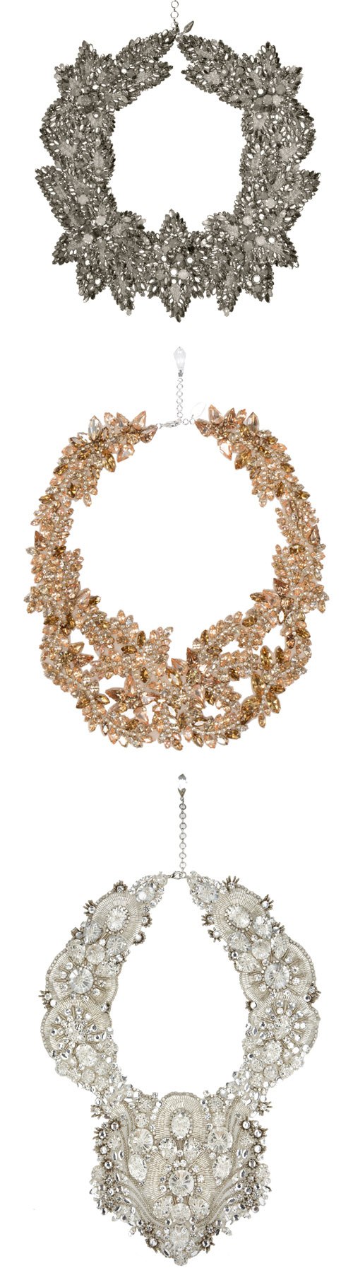wedding necklaces by Jenny Packham - spring 2014 bridal collection | via junebugweddings.com