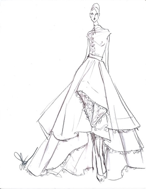 Wedding Flower Line Drawing : Wedding dresses by rivini spring collection