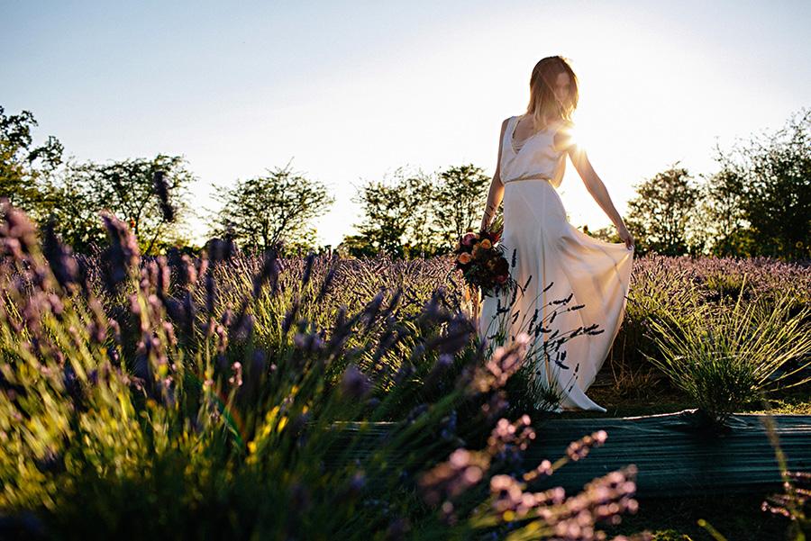 lavender farm wedding inspiration photo shoot with photos by Jennifer Ballard Photography | via junebugweddings.com