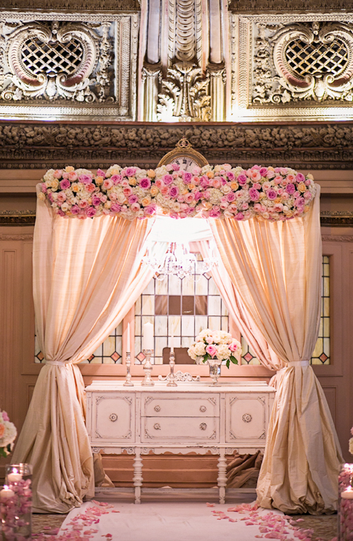 elegant pink and white wedding at the Arctic Club in Seattle with photos by Alante Photography | junebugweddings.com
