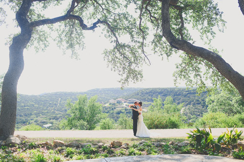 pink, blue and white summer wedding at Hacienda Del Lago, Volente, Texas - photo by Christina Carroll | via junebugweddings.com