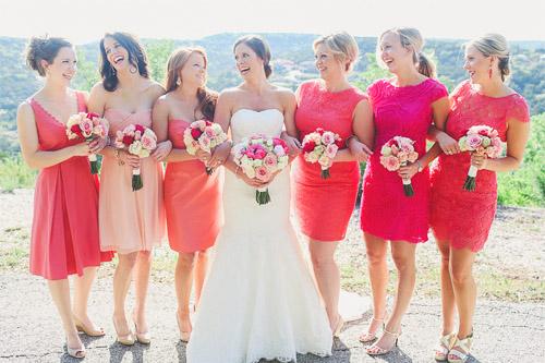 Blue, White and Pink Texas Wedding | Junebug Weddings
