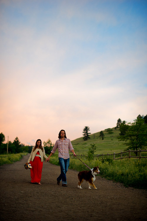 City and country Colorado engagement photos by Chosen Photography | via junebugweddings.com