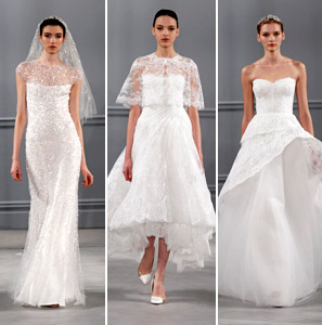 Monique Lhuillier wedding dresses from spring 2014 bridal market