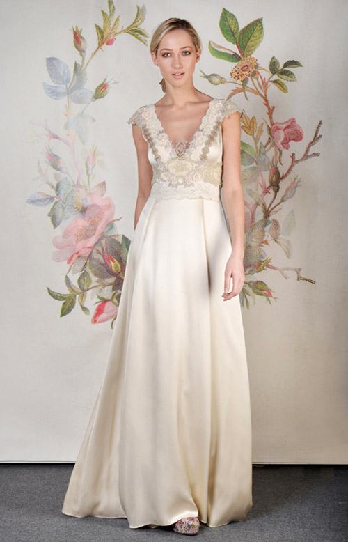 Claire Pettibone Abigail wedding dress from her Spring 2014 bridal collection | via junebugweddings.com