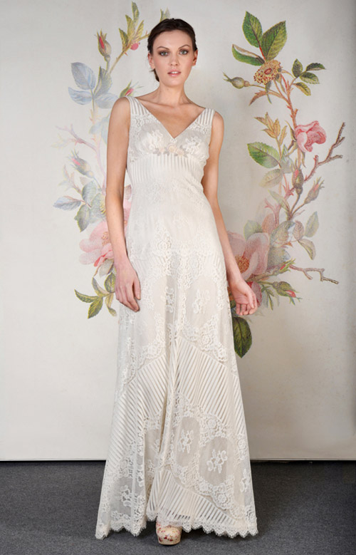 Claire Pettibone Antoinette wedding dress from her Spring 2014 bridal collection | via junebugweddings.com