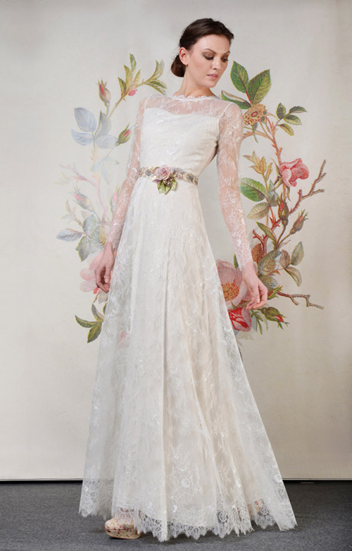 Claire Pettibone Charlotte wedding dress from her Spring 2014 bridal collection | via junebugweddings.com