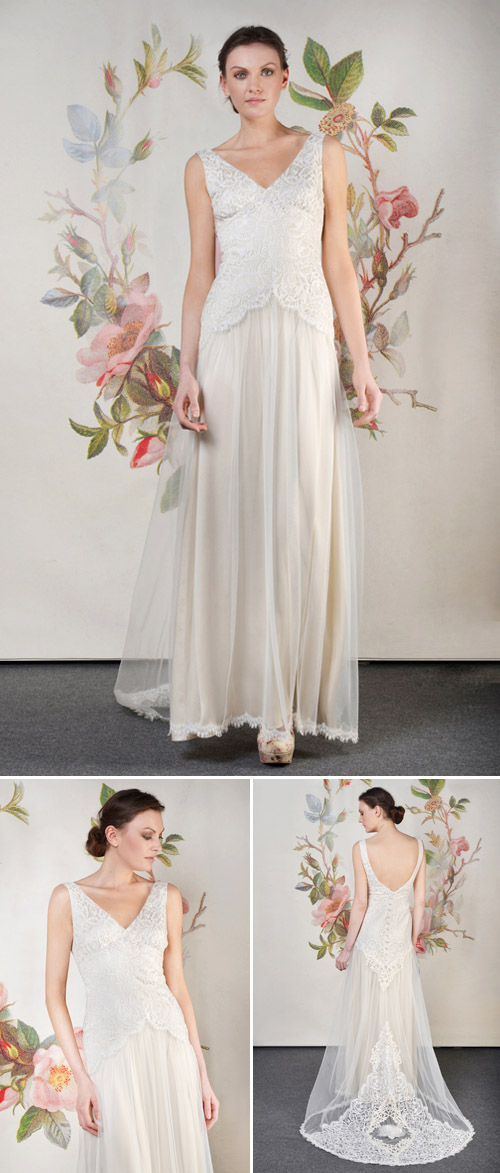 Claire Pettibone Florentine wedding dress from her Spring 2014 bridal collection | via junebugweddings.com