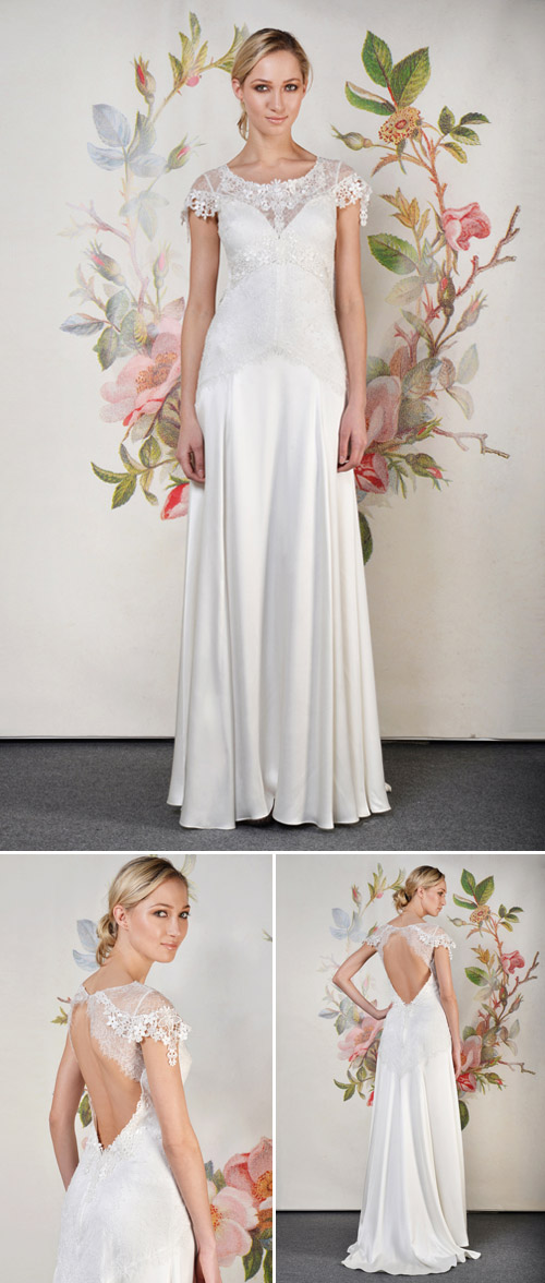 Claire Pettibone Wren wedding dress from her Spring 2014 bridal collection | via junebugweddings.com