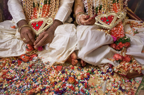 colorful and traditional wedding in India by Kristi Odom Photography | via junebugweddings.com